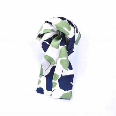 Slim šátek s desénem ginkgo biloba 150/15
