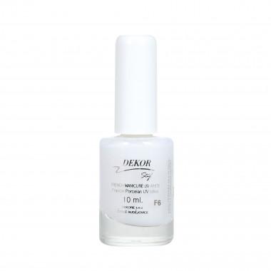 Dekor Lak na nehty UV bělící F6 pro francouzskou manikúru 10ml