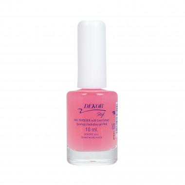 Zpevňující hedvábní gel na nehty pink dekor 10ml