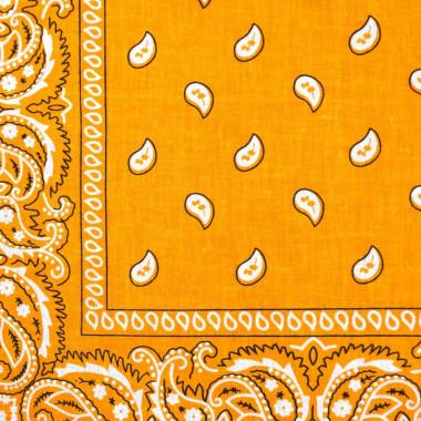 Bandana šátek do vlasů světle oranžový 53/53