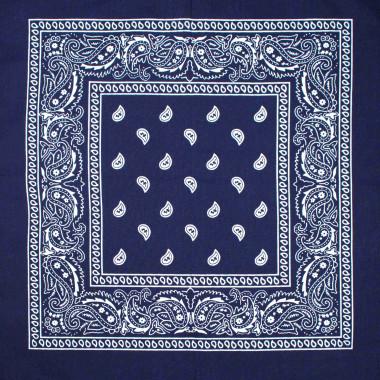 Bandana šátek do vlasů navy 53/53