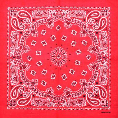 Bandana šátek paisley červený 53/53