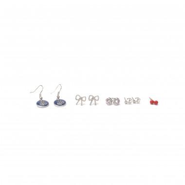 Set stříbrných náušnic