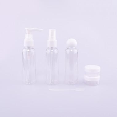 Coxes cestovní sada kosmetických lahviček clear