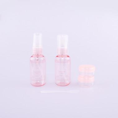 Coxes cestovní sada kosmetických lahviček pink