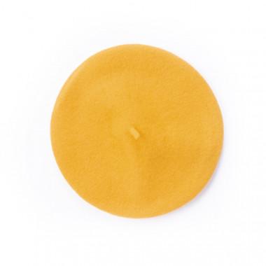 Coxes Dámský vlněný baret medově žlutý