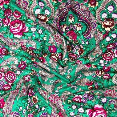 Dlouhý šátek čtvercový třásně ruský vzor 9D2-121607