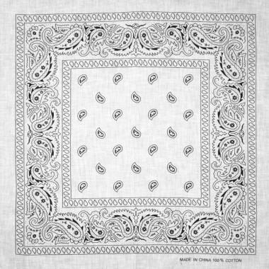 Bandana šátek do vlasů bílý 53/53