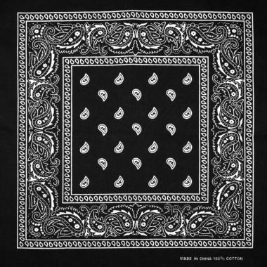 Bandana šátek do vlasů černý 53/53
