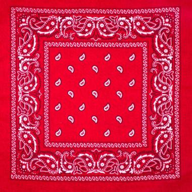 Bandana šátek do vlasů červený 53/53 TOP