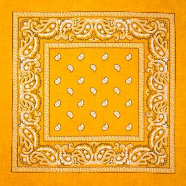 Bandana šátek do vlasů žlutý 53/53