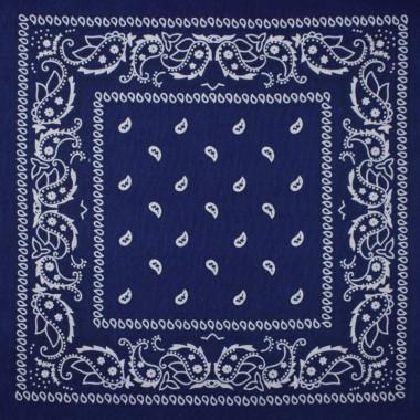 Bandana šátek do vlasů tmavě modrý 53/53