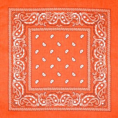 Bandana šátek do vlasů oranžový 53/53