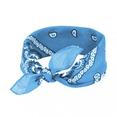 Bandana šátek do vlasů modrý 53/53