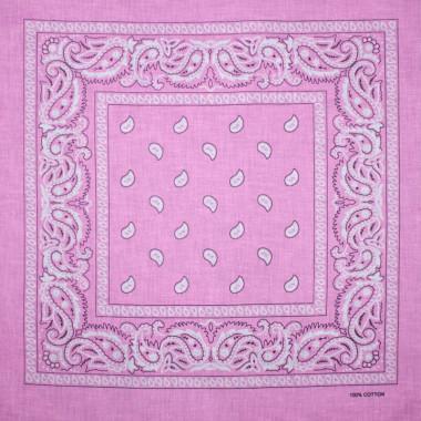 Bandana šátek do vlasů světle růžový 53/53