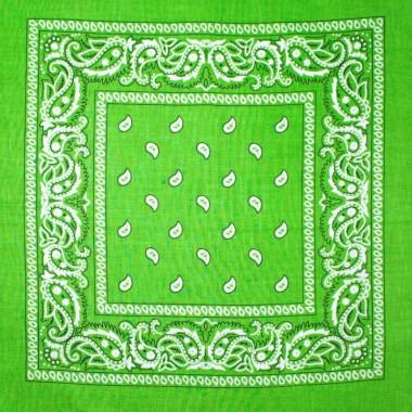 Bandana šátek do vlasů zelený 53/53