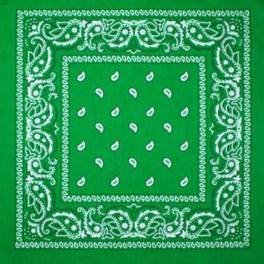 Bandana šátek do vlasů tmavě zelený 53/53