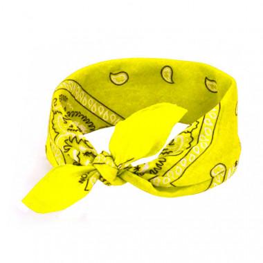 Bandana šátek do vlasů sytě žlutý 53/53