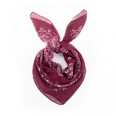 Čtvercový šátek bordó paisley 100/100