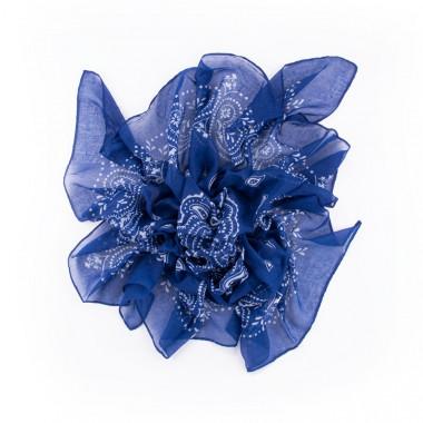Čtvercový šátek blue sky paisley 100/100