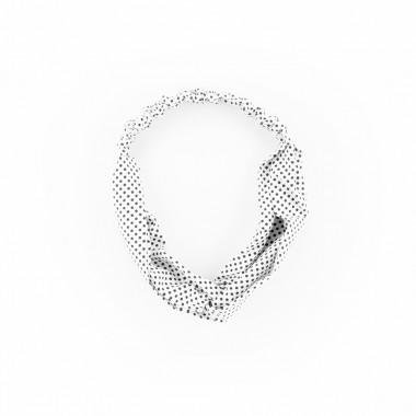 Šátková čelenka do vlasů puntíky bílá