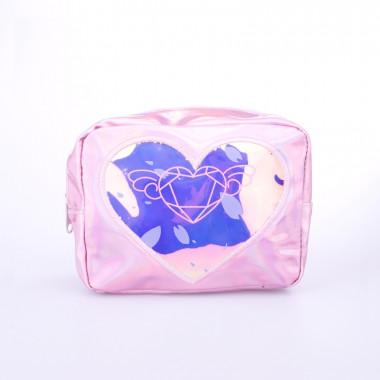 Kosmetická taštička růžová se srdíčkem
