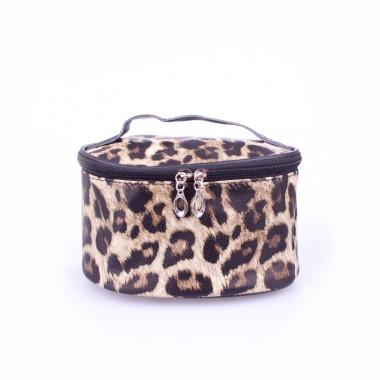 Kosmetická etue leopard ovál