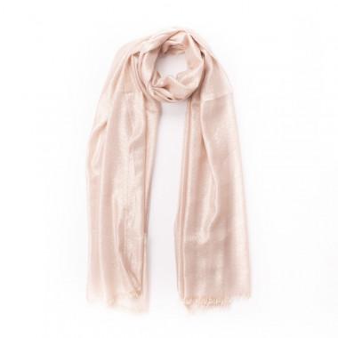 Elegantní šátek přes ramena s lesklou nití krémový 200/70
