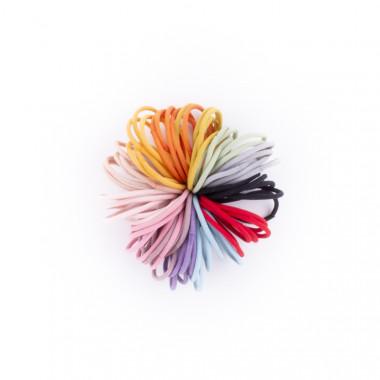 Gumičky do vlasů Color Set 65 ks / 4 cm