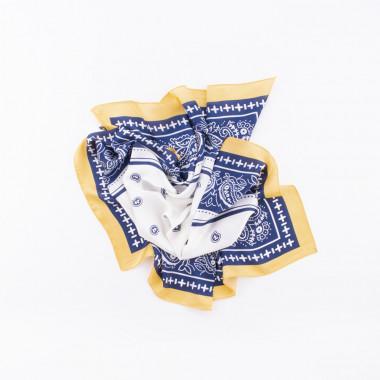 Šátek na krk blue paisley 70/70