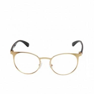 LUEUR Sluneční brýle round čirá skla zlatý desén G279