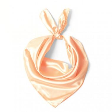 """Čtvercový šátek na krk světle oranžový  57cm * 57cm """"LETUŠKA"""" 1D1-2640"""