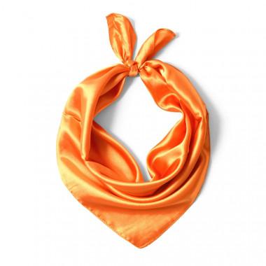 """Čtvercový šátek na krk oranžový  57cm * 57cm """"LETUŠKA"""" 1B1-2642"""