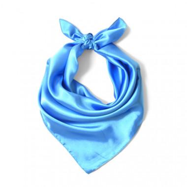 """Čtvercový šátek na krk světle modrý 57cm * 57cm """"LETUŠKA"""" 1B1-2646"""
