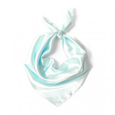 """Čtvercový šátek na krk světle modrý  57cm * 57cm """"LETUŠKA""""  1D2-2647"""