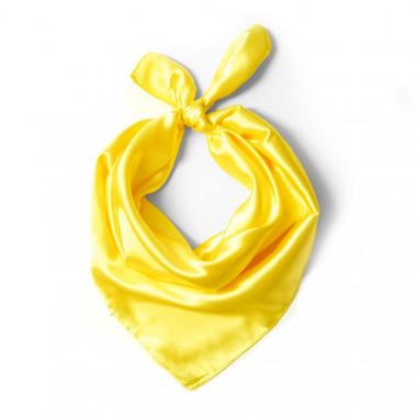 """Čtvercový šátek na krk žlutý  57cm * 57cm """"LETUŠKA"""" 1D1-2649"""