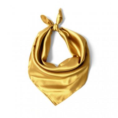 """Čtvercový šátek na krk zlatý  57cm * 57cm """"LETUŠKA"""" 1D2-2652"""