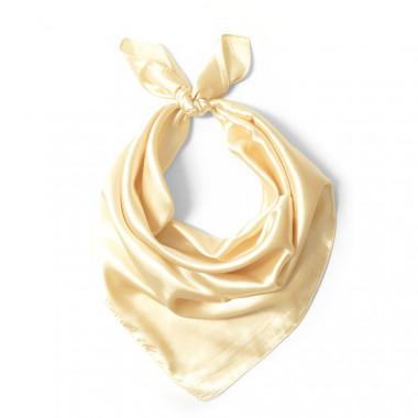 """Čtvercový šátek na krk béžový  57cm * 57cm """"LETUŠKA"""" 1D2-2653"""