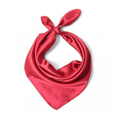 """Čtvercový šátek na krk vínový  57cm * 57cm """"LETUŠKA"""" 1A2-2630"""