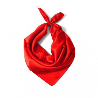 """Čtvercový šátek na krk červený  57cm * 57cm """"LETUŠKA"""" 1A1-2628"""