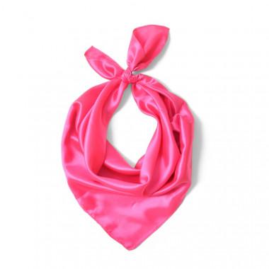 """Čtvercový šátek na krk růžový  57cm * 57cm """"LETUŠKA"""" 1A1-2629"""