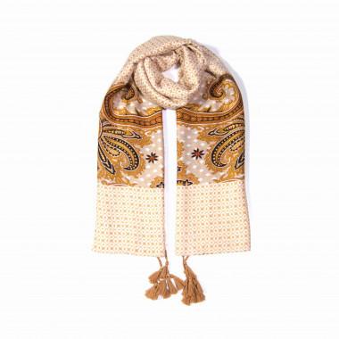 Extra velký dlouhý šátek přes ramena s třásněmi 9C1-121616