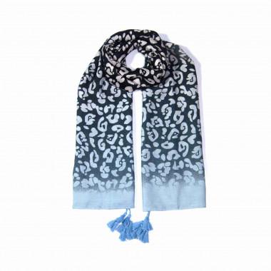 Extra velký dlouhý šátek přes ramena s třásněmi 9C2-121621