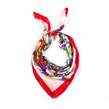Saténový šátek na krk čtvercový 90cm * 90cm 3C2-121531