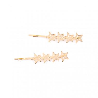Glamorous zlatá pérka Star 2 ks