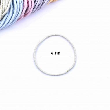 Gumičky do vlasů slim se strukturou 100 ks / 4 cm