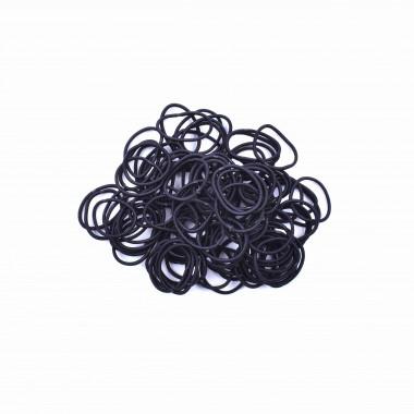 Gumičky do vlasů slim černé 100 ks / 2 cm