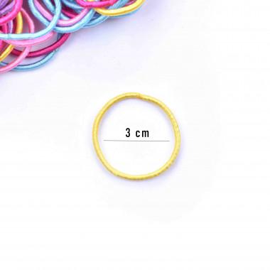 Gumičky do vlasů slim mix barev 100 ks / 3 cm