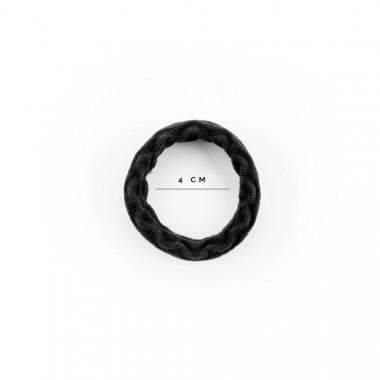 Gumičky do vlasů se strukturou Wave černá 5 ks / 4 cm