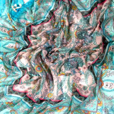 Čtvercový šátek se vzorem 110cm*110cm 4F1-121416